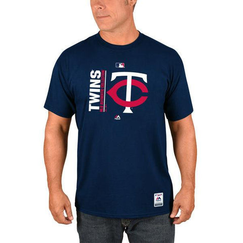 Men's MLB Minnesota Twins Majestic Navy Authentic Collection Team Icon T-Shirt