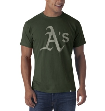 '47 Brand Men's Oakland Athletics Bottle Green Flanker Tee