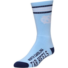 Adult For Bare Feet North Carolina Tar Heels Deuce Striped Crew Socks