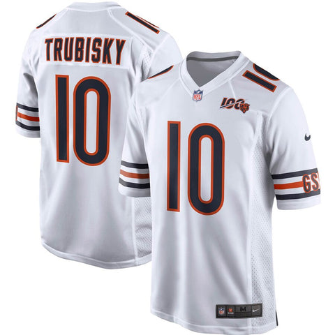 Men's Chicago Bears Mitchell Trubisky Nike White 100th Season Game Jersey
