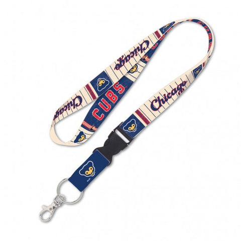"Chicago Cubs 1969 Logo Cooperstown Collection 1"" Lanyard With Detachable Buckle"