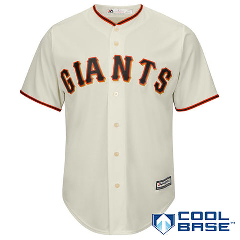 Men's San Francisco Giants Majestic Tan Alternate Cool Base Jersey