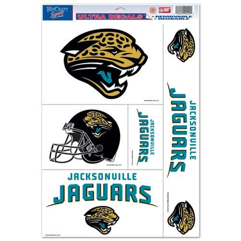 WinCraft NFL Jacksonville Jaguars Static Cling Decal Sheet, 11 x 17