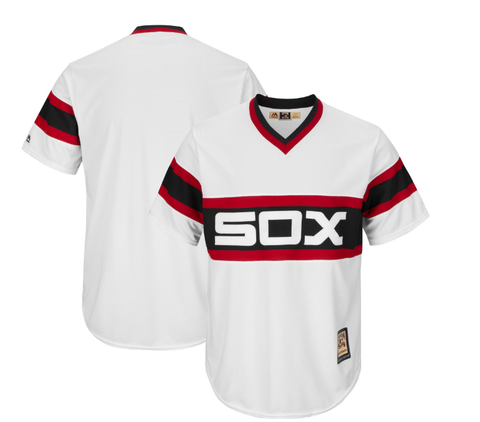 Men's Chicago White Sox Cool Base Mens Replica Cooperstown Collection 1983 Home Blank Jersey