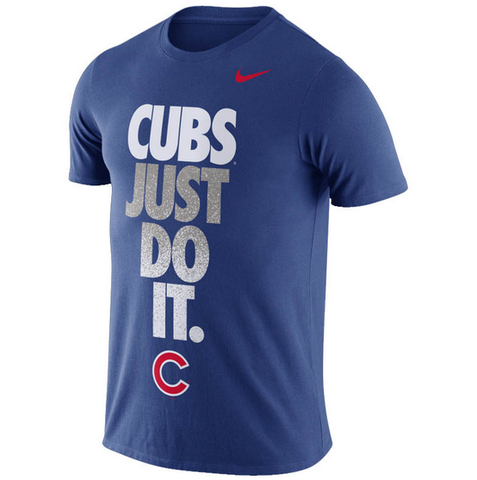 Nike Men's Chicago Cubs Just Do It Short Sleeve T-Shirt (Royal)