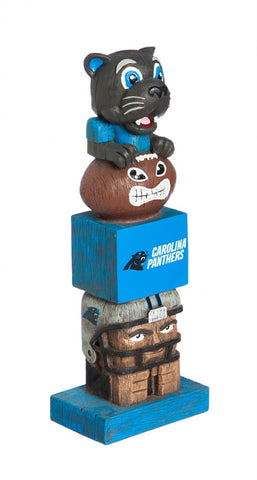 "Carolina Panthers 16"" Team Tiki Totem"
