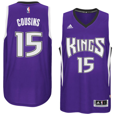 Men's Sacramento Kings DeMarcus Cousins ADIDAS Purple Player Swingman Road Jersey