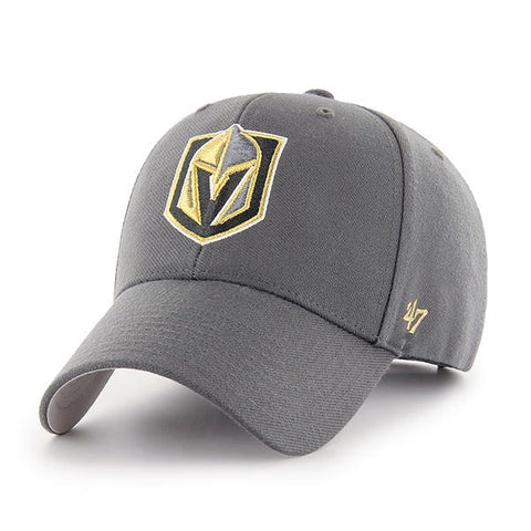 47 Brand Vegas Golden Knights Gray MVP Adjustable Hat