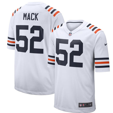 Men's Chicago Bears Khalil Mack Nike White Alternate Classic Game Jersey