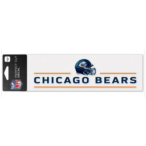 Chicago Bears Helmet 3X10 Perfect Cut Decal