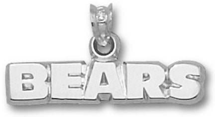 LogoArt Chicago Bears Sterling Silver 3/8 inch X 1 inch Name Pendant