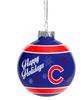 "Chicago Cubs ""Happy Holidays"" Christmas Ornament-Blue"