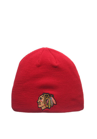 Men's Chicago Blackhawks Red Edge Zephyr Beanie Knit Hat