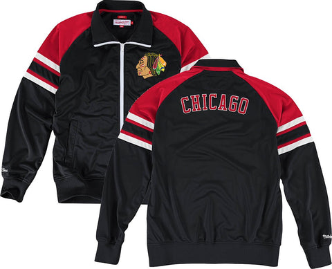 Men's Chicago Blackhawks Trade Deadline Track Jacket by Mitchell & Ness