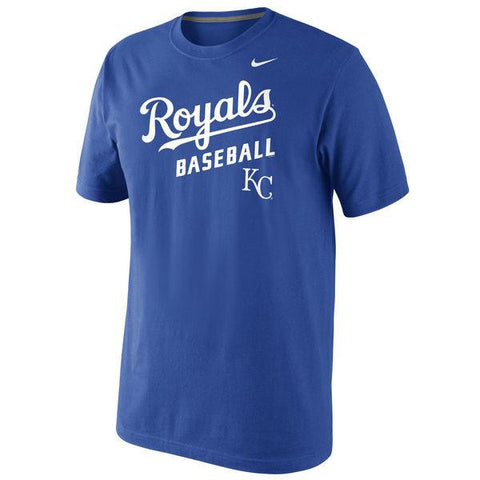 Men's Nike Royal Blue Kansas City Royals Home Practice T-Shirt