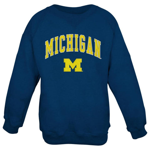 Michigan Wolverines NCAA Embroidered Crew Men's Sweatshirt - Navy