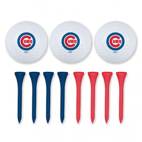 Chicago Cubs Golf Ball And Tee Set By Mcarthur