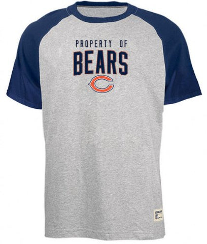 Chicago Bears Grey Youth Property Of Raglan T-Shirt