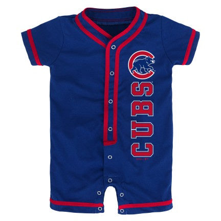 Newborn/Infant MLB Chicago Cubs Blue Game Ready Short Sleeve Coverall