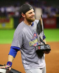 "Ben Zobrist Chicago Cubs 2016 MVP Trophy Photo (Size: 8"" x 10"")"
