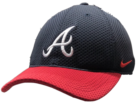 Men's Atlanta Braves Nike Mesh Logo Performance Adjustable Hat-Nike