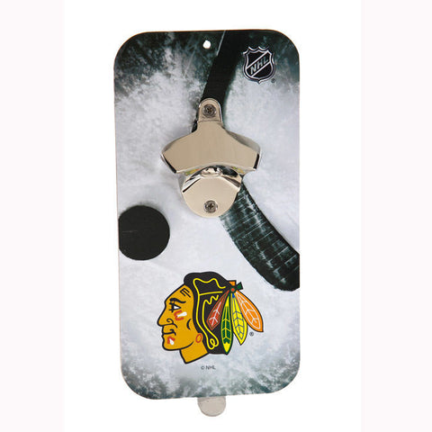 Chicago Blackhawks Clink 'n' Drink Magnetic Bottle Opener - Pro Jersey Sports - 1