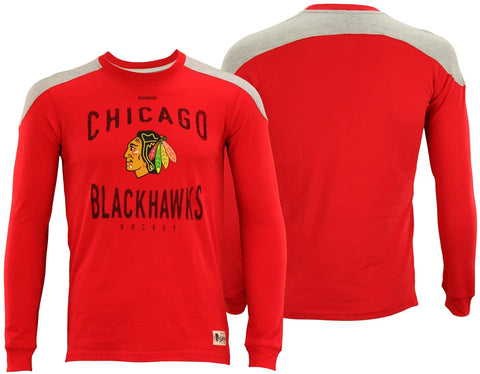 Kid's Chicago Blackhawks Birthright Red Long Sleeve Tee By Reebok