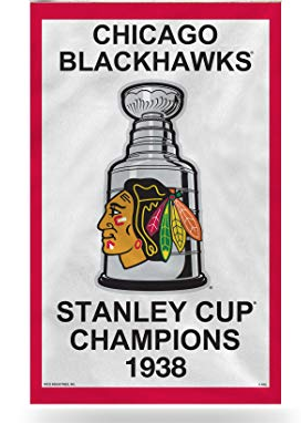 Chicago Blackhawks 1938 Stanley Cup Banner Pennant
