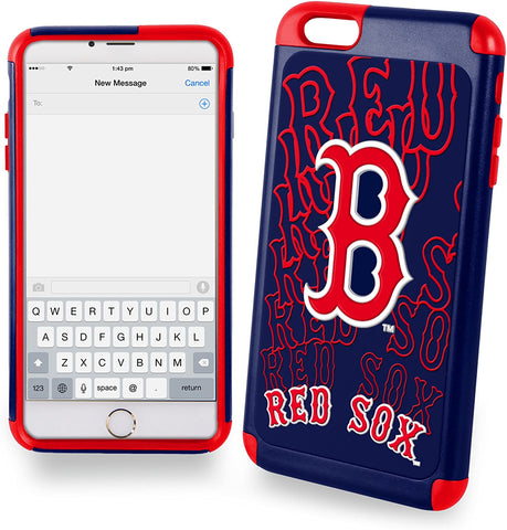 Boston Red Sox Dual Hybrid 2 Piece TPU Case for iPhone 6 Plus