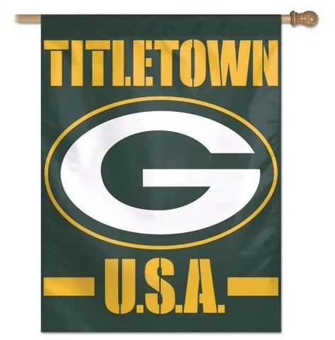 Green Bay Packers Titletown U.S.A. 27X37 Vertical Flag By Wincraft