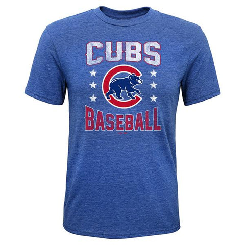 Youth Chicago Cubs Triple Play Triblend Tee