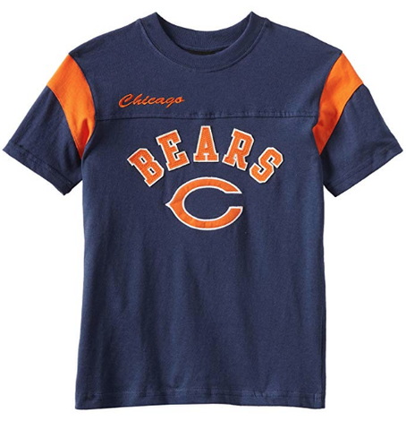 Youth Chicago Bears Navy Block Tee