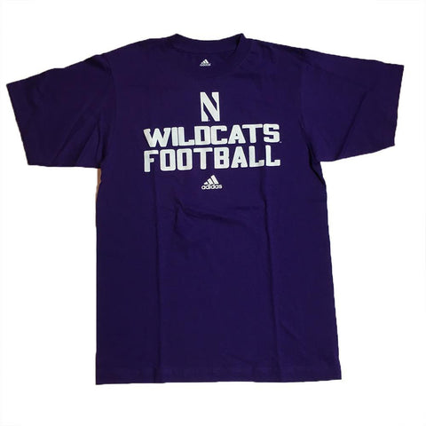 "adidas Northwestern Wildcats Sideline ""Wildcats Football"" Purple T-Shirt"