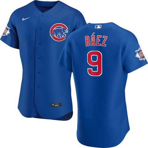 Men's Chicago Cubs Javier Baez Nike Blue Alternate Authentic Player Jersey