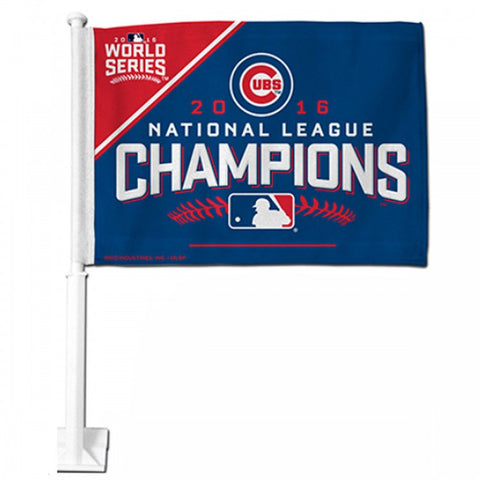 Chicago Cubs 2016 National League Champions Car Flag By Rico - Pro Jersey Sports