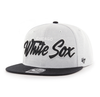 Chicago White Sox Gray/Black '47 Brand Captain Wool Snapback Adjustable Hat