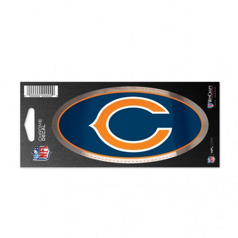 Chicago Bears 3X7 Chrome Decal By Wincraft