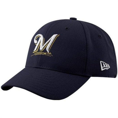 New Era Milwaukee Brewers The League Navy Blue 9FORTY Adjustable Hat