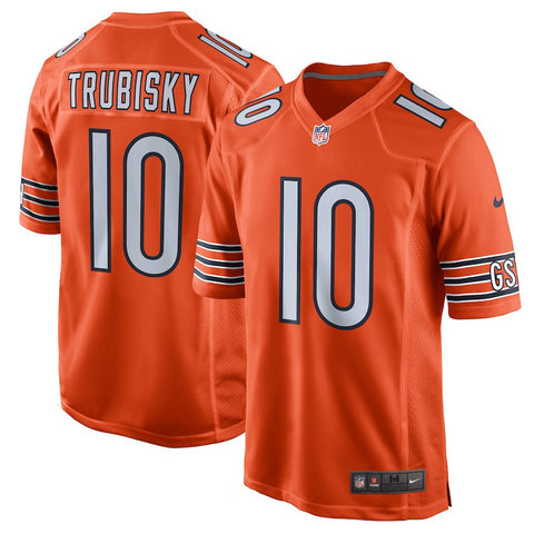 Men's Chicago Bears Mitchell Trubisky Nike Orange Alternate Game Jersey