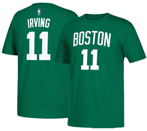 Youth Kyrie Irving Boston Celtics Kelly Green Name & Number Tee