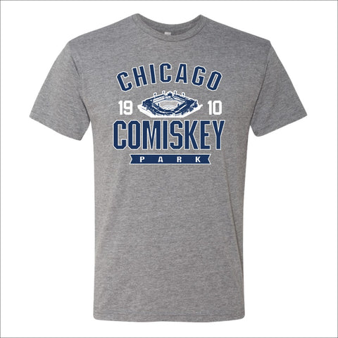 Men's Comiskey Park Heather Gray Over The Top Tee