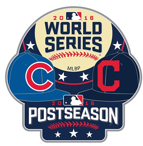 Chicago Cubs 2016 World Series Match Up Souvenir Pin