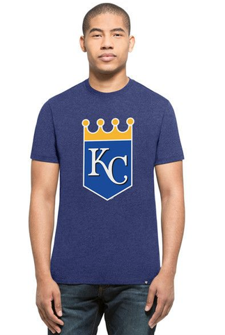 '47 Brand Men's Kansas City Royals Blue Primary Logo Club Tee