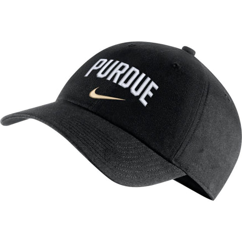 Nike Purdue Boilermakers Heritage 86 Arch Adjustable Performance Hat