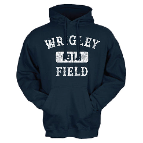 Men's Wrigley Field Navy Arch And Box Hoodie