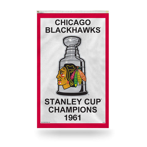 Chicago Blackhawks 1961 Stanley Cup Champions 3' x 5' Vertical Banner Flag