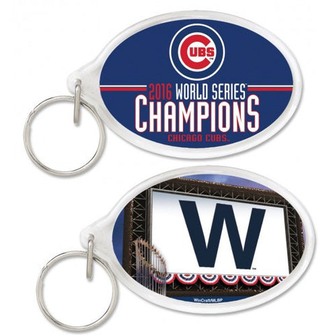 Chicago Cubs WinCraft 2016 World Series Champions Acrylic Key Ring - Pro Jersey Sports