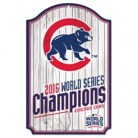 Chicago Cubs 2016 World Series Champions World Series Wood Sign