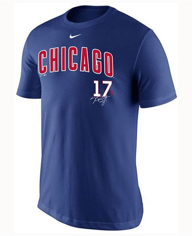 Men's Kris Bryant Chicago Cubs Legend Signature Player T-Shirt