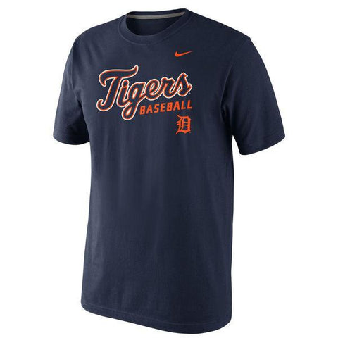 Men's MLB Detroit Tigers Nike Navy Home Practice T-Shirt